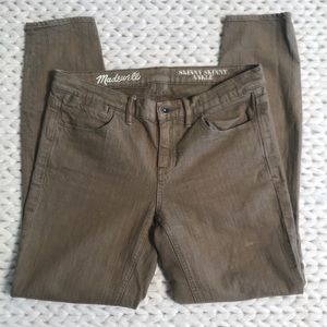 Madewell Olive Skinny Skinny Ankle Jeans